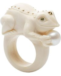 Bibi Van Der Velden - Toad On A Pearl Ivory Ring - Lyst