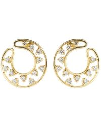 Dana Rebecca - Diamond Front Hoop Earrings - Lyst