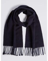 Marks & Spencer - Brushed Woven Scarf - Lyst