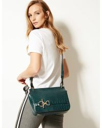 Marks & Spencer - Faux Leather Ring Detail Cross Body Bag - Lyst