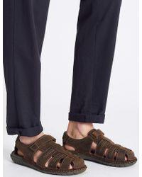 Marks & Spencer - Leather Riptape Fisherman Sandals - Lyst