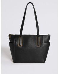 Marks & Spencer - Faux Leather Metal Tab Shopper Bag - Lyst