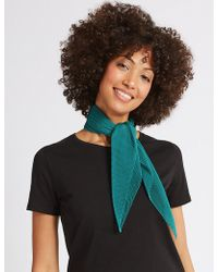 Marks & Spencer - Pleated Scarf - Lyst