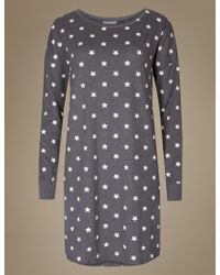 e9c740f8c0 Marks   Spencer - Cotton Rich Star Print Nightdress - Lyst