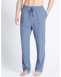 Marks & Spencer - 2 Pack Jersey Long Pyjama Bottoms - Lyst