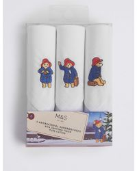 Marks & Spencer   Pure Cotton Paddingtontm Handkerchiefs   Lyst