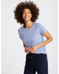 Marks & Spencer - Relaxed Crew Neck T-shirt - Lyst