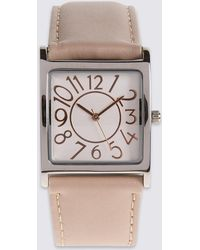 Marks & Spencer - Large Square Face Strap Watch - Lyst