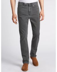 Marks & Spencer - Regular Fit Stretch Water Resistant Jeans - Lyst
