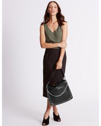 Marks & Spencer - Faux Leather Chain Slouch Hobo Bag - Lyst