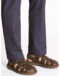 Marks & Spencer - Leather Fisherman Riptape Sandals - Lyst