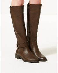 Marks & Spencer - Elastic Back Rider Knee Boots - Lyst
