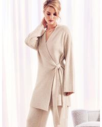 Marks & Spencer - Pure Cashmere Textured Wrap Dressing Gown - Lyst