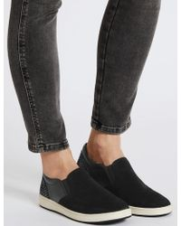 Marks & Spencer - Suede Slab Sole Trainers - Lyst