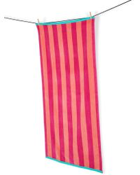 Marks & Spencer - Velour Wide Stripe Beach Towel - Lyst