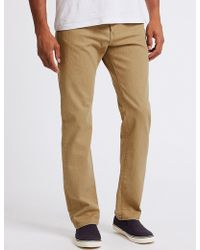 Marks & Spencer - Regular Fit Stretch Jeans With Stormweartm - Lyst