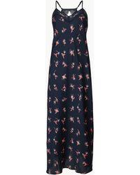 Marks & Spencer - Satin Hummingbird Strappy Long Nightdress - Lyst