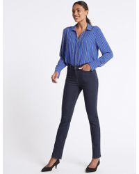 Marks & Spencer - Mid Rise Relaxed Slim Jeans - Lyst