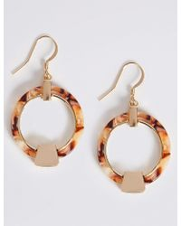 Marks & Spencer - Hanging Hoop Earrings - Lyst