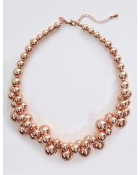 Marks & Spencer - Clear Ball Collar Necklace - Lyst