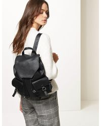 Marks & Spencer - Faux Leather Backpack Bag - Lyst