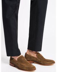 Marks & Spencer - Suede Saddle Slip-on Loafers - Lyst