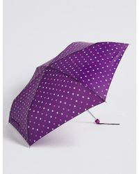 Marks & Spencer - Polka Dot Compact Umbrella With Stormweartm - Lyst