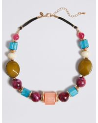 Marks & Spencer - Chunky Beaded Necklace - Lyst