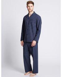 Marks & Spencer - 2in Longer Cotton Blend Printed Pyjamas - Lyst