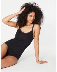 Marks & Spencer - Lace Trim Vest With Secret Supporttm Black - Lyst