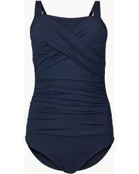 6ee34bcb5 Marks   Spencer - Post Surgery Secret Slimmingtm Bandeau Swimsuit - Lyst
