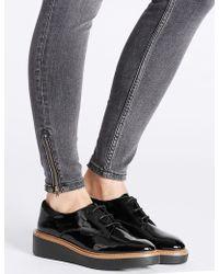 Marks & Spencer | Leather Flatform Brogue Shoes | Lyst