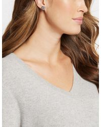 Marks & Spencer | Platinum Plated Diamanté Stud Earrings | Lyst