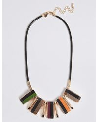 Marks & Spencer - Rectangle Collar Necklace - Lyst