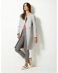 Marks & Spencer - Double Breasted Funnel Neck Coat - Lyst