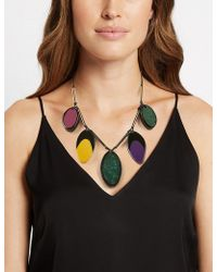 Marks & Spencer - Jelly Petal Collar Necklace - Lyst
