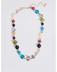 Marks & Spencer - Luminous Facet Beads Necklace - Lyst