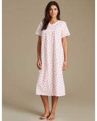 Marks & Spencer - Ditsy Floral Print Nightdress - Lyst