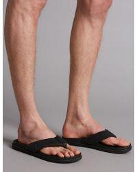 Marks & Spencer - Leather Slip-on Flip-flops - Lyst