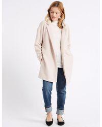 Marks & Spencer - Petite Textured Coat - Lyst