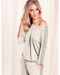 Marks & Spencer - Lace Trim Long Sleeve Pyjama Top - Lyst