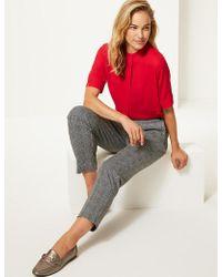 Marks & Spencer - Round Neck Short Sleeve Blouse - Lyst