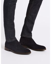 Marks & Spencer - Suede Lace-up Chukka Boots - Lyst