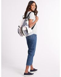 Marks & Spencer - Pure Cotton Striped Backpack Bag - Lyst
