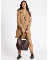 Marks & Spencer - Faux Leather Hobo Bag - Lyst