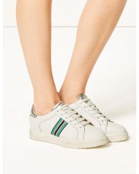 Marks & Spencer - Leather Lace-up Trainers - Lyst