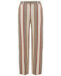89d50ac7c3d Marks   Spencer - Freya Relaxed Striped Straight Leg Trousers - Lyst