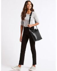Marks & Spencer - Leather Grab Tote Bag - Lyst