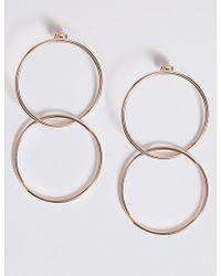 Marks & Spencer - Double Hoop Earrings - Lyst