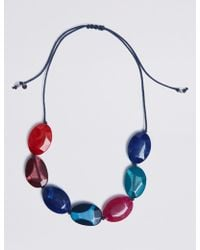 Marks & Spencer - Mixed Pebble Collar Necklace - Lyst